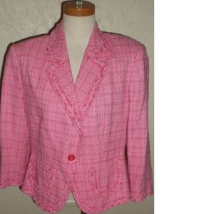 Worthington New Pink Textured Blazer Size 14